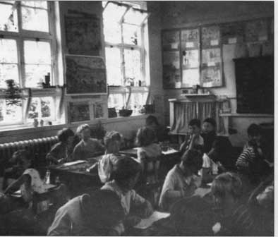 Typical classroom scene