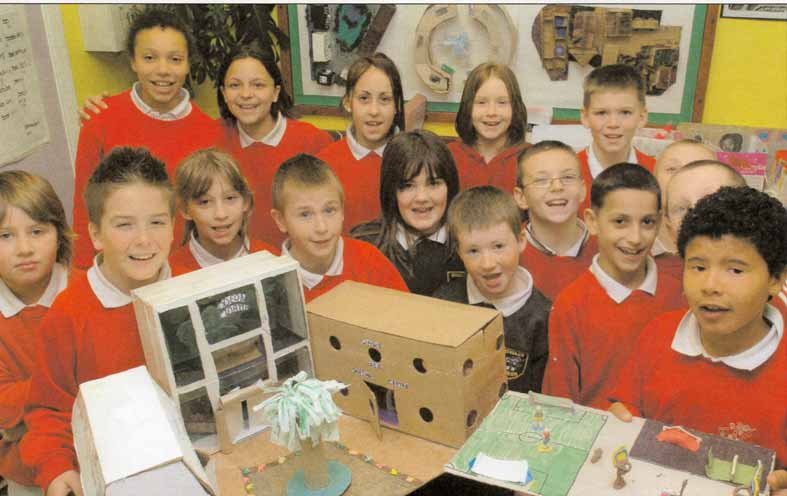 Town planning at Studley Green Primary School