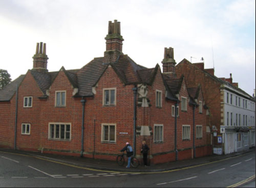 Yerbury Almshouses as rebuilt in 1914